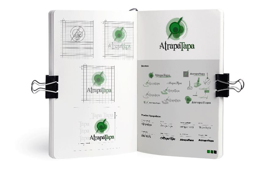 Bocetos para el logotipo de Atrapatapa