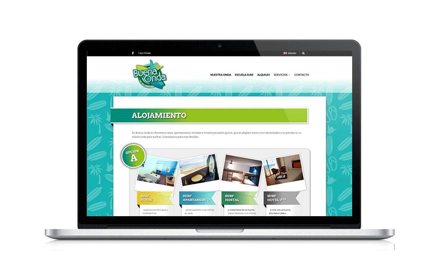 Diseño web para pymes Buena Onda Surf World