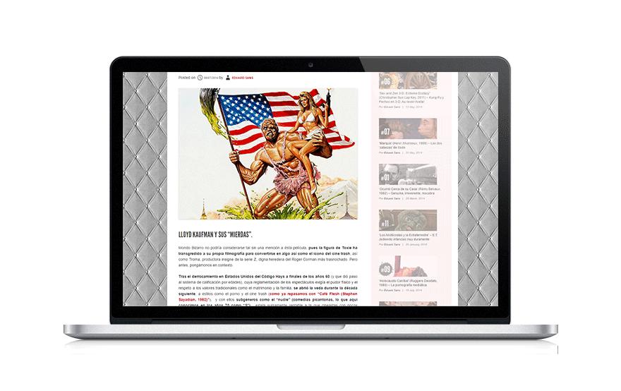 Diseño web para pymes Cinéfagos Muertos