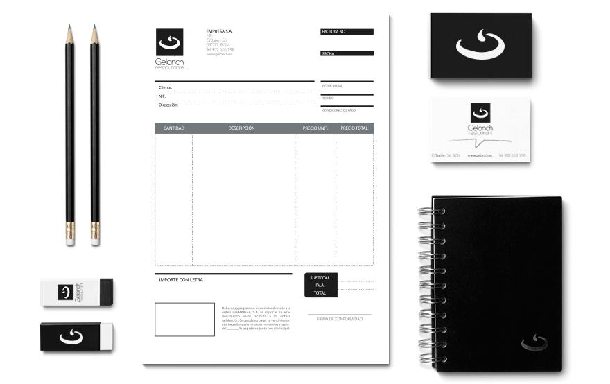Aplicaciones de Diseño Gráfico para Gelonch Restaurant