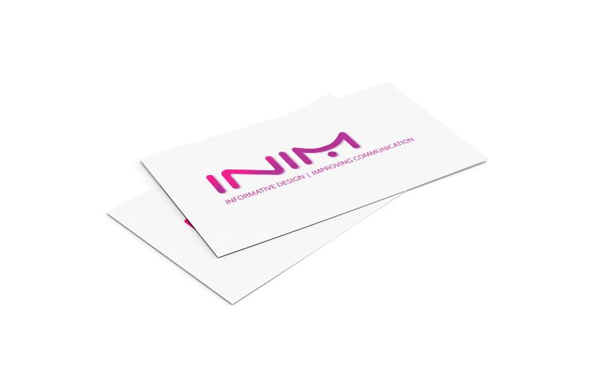 Diseño de tarjeta corporativa para Inim