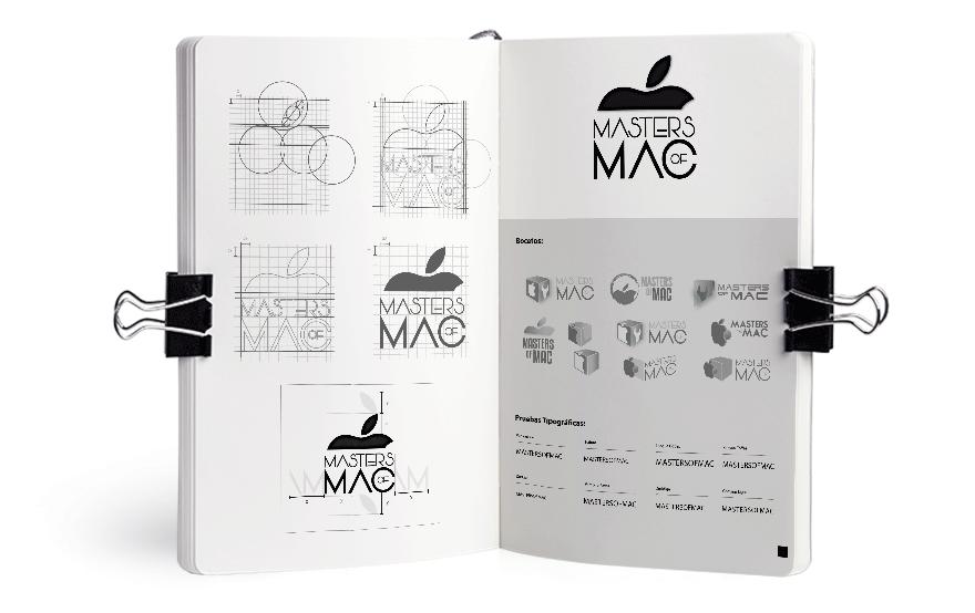 Bocetos para el logotipo de Masters of Mac
