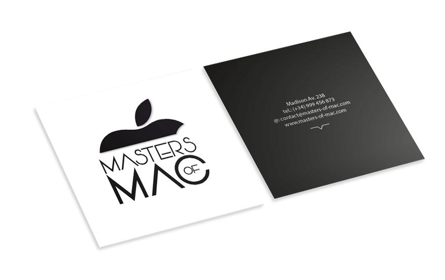 Diseño de tarjeta corporativa para Masters of Mac
