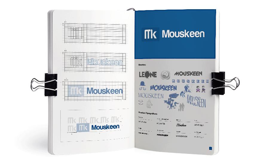 Bocetos para el logotipo de Mouskeen