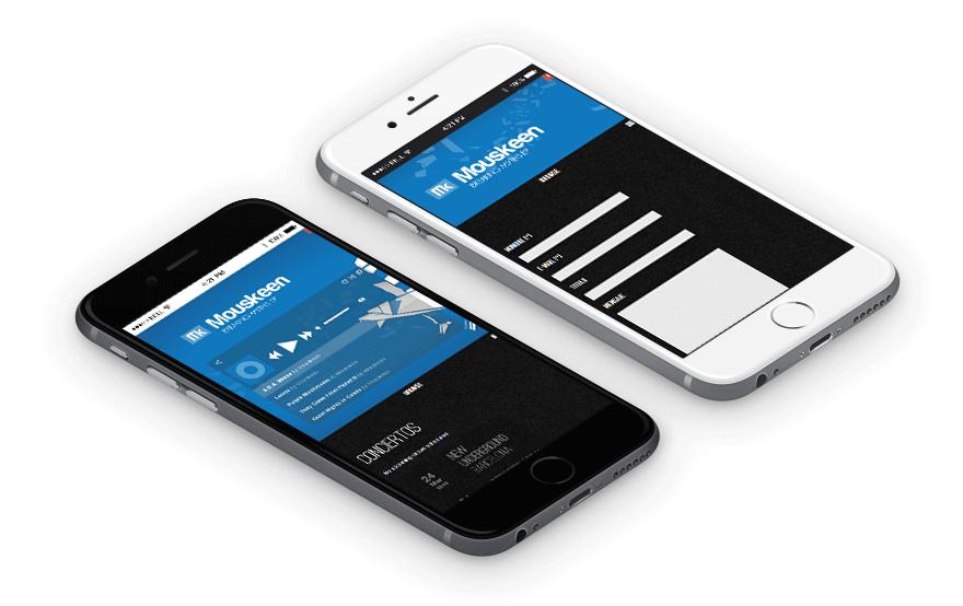 Diseño web responsive para móvil Mouskeen