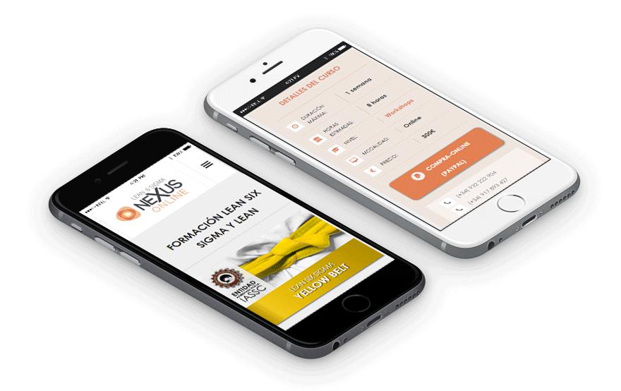 Diseño web responsive para móvil Nexus Online