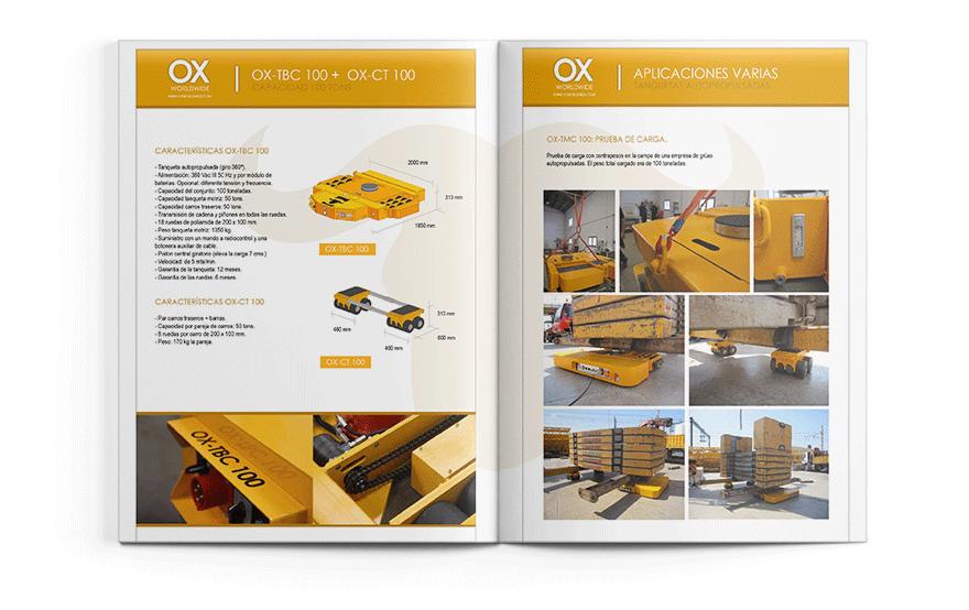 Diseño de Catálogo para Ox Worldwide