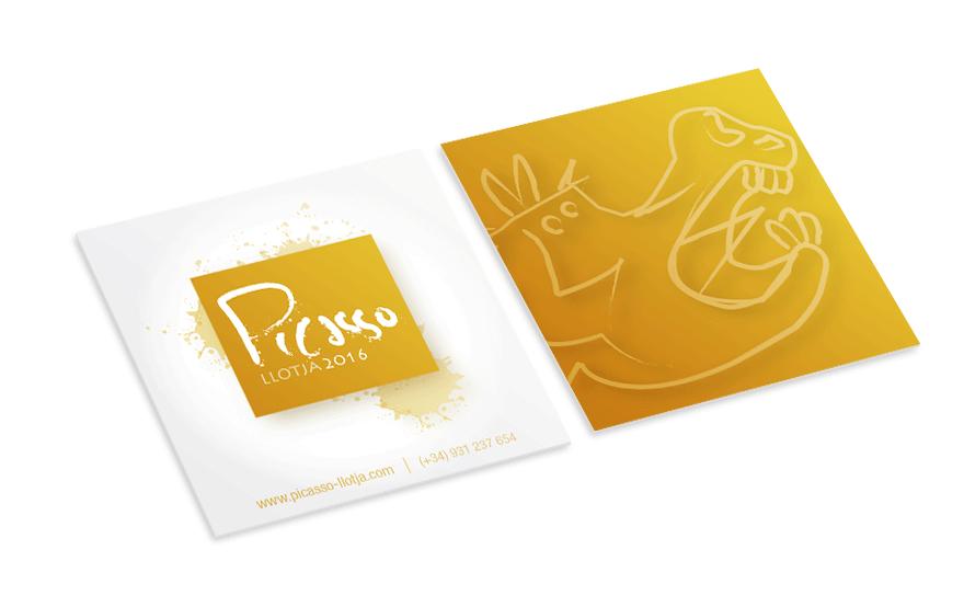 Diseño de tarjeta corporativa para Picasso Llotja