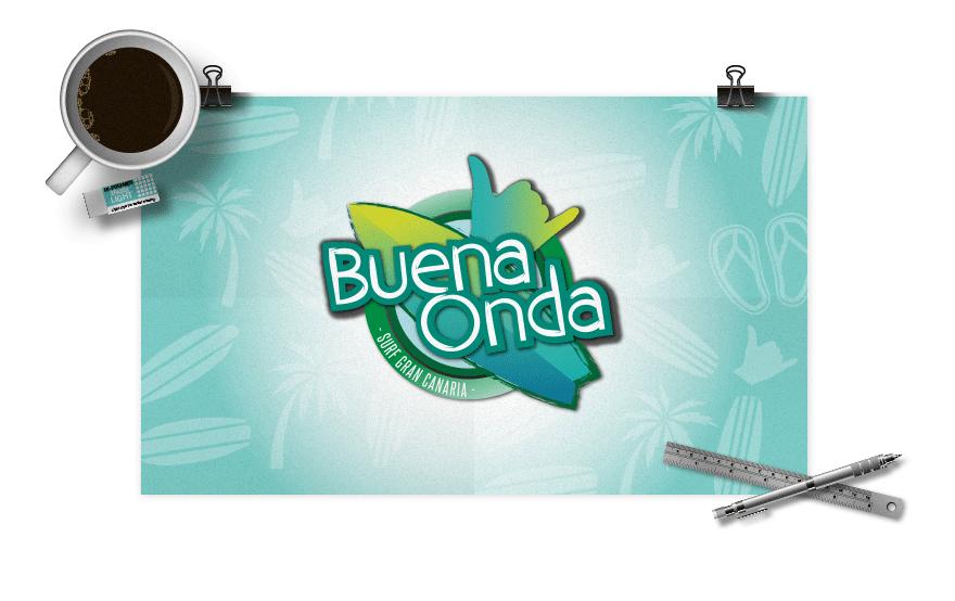 Diseño de logotipo para Buena Onda Surf World