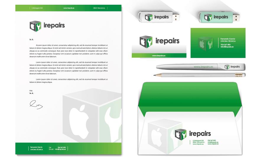 Aplicaciones de Diseño Gráfico para Irepairs