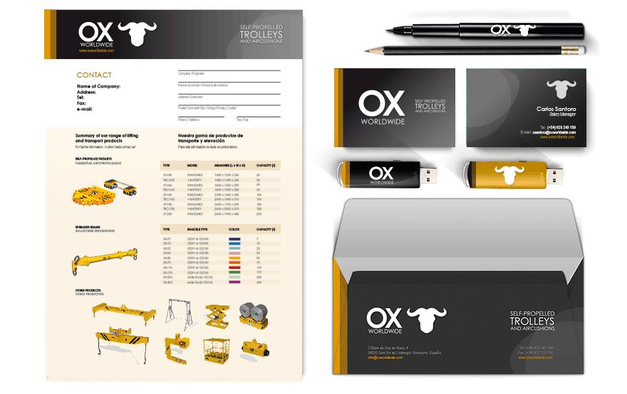 Aplicaciones de Diseño Gráfico para Ox Worldwide