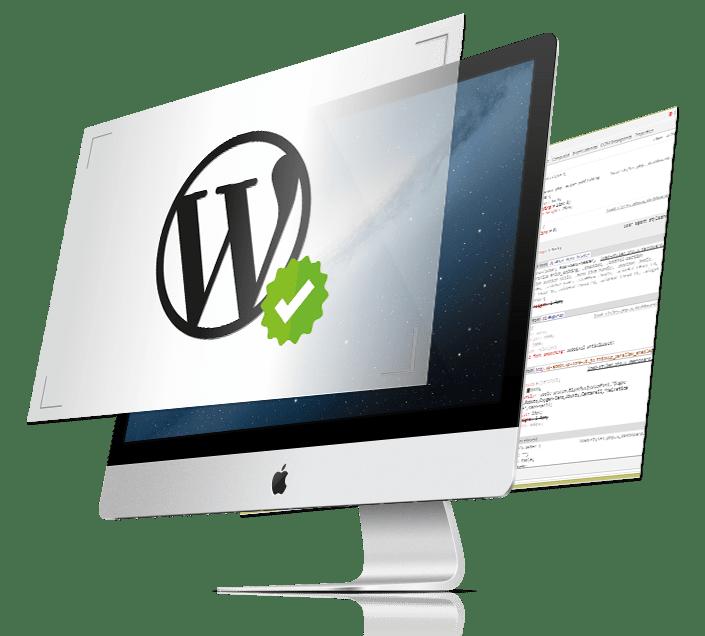 Custom wordpress web design computer icon