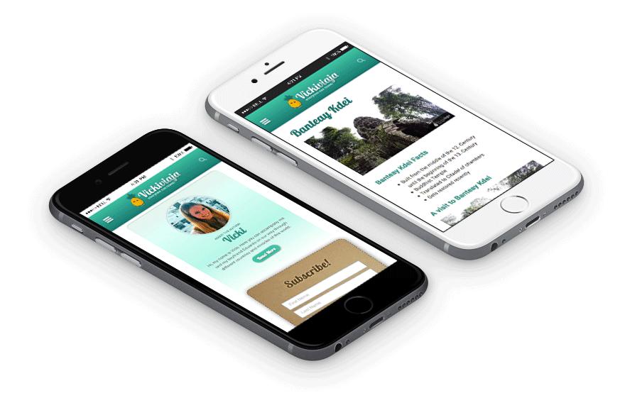 Diseño web responsive para móvil Vickiviaja