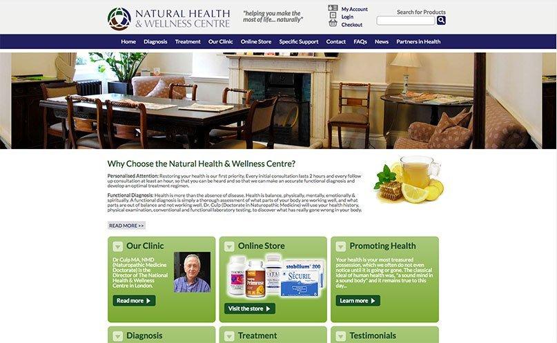 mal uso de enlaces en diseño web de centro wellness
